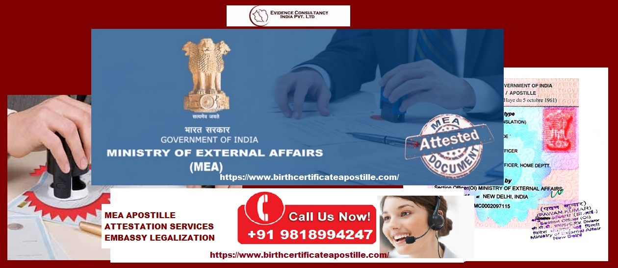 Birth Certificate Apostille In Chennai Mea Fee Attestation